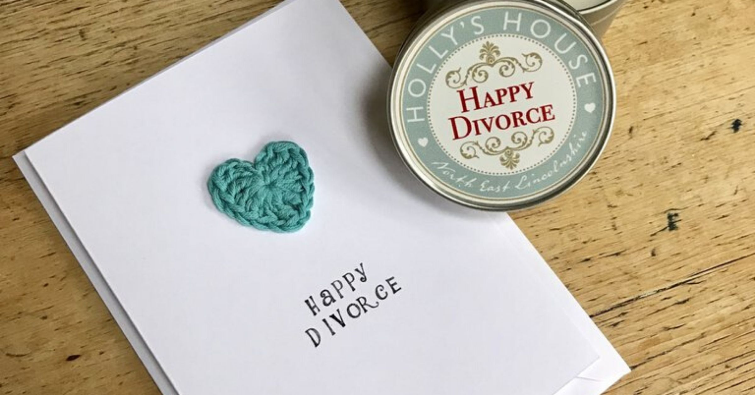 Crochet Cards for Holly's House - Happy Divorce