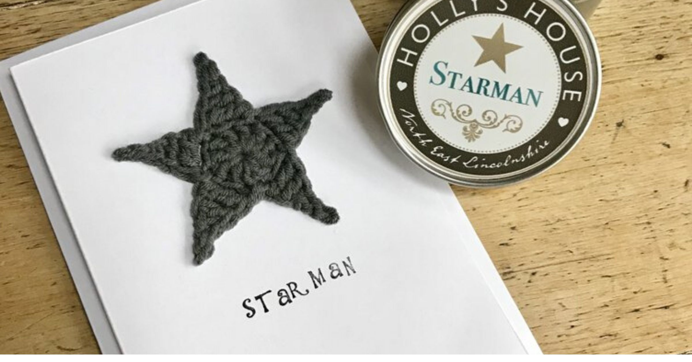 Crochet cards for Holly's House - Starman