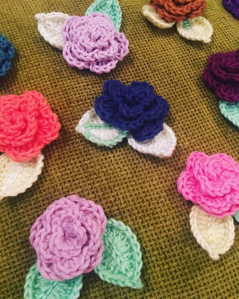 Crochet flower decorations