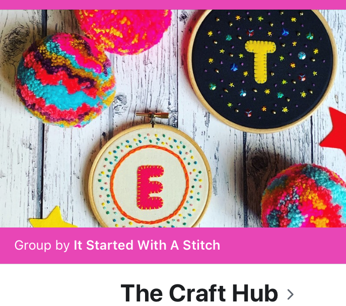 The Craft Hub with It Started With a Stitch
