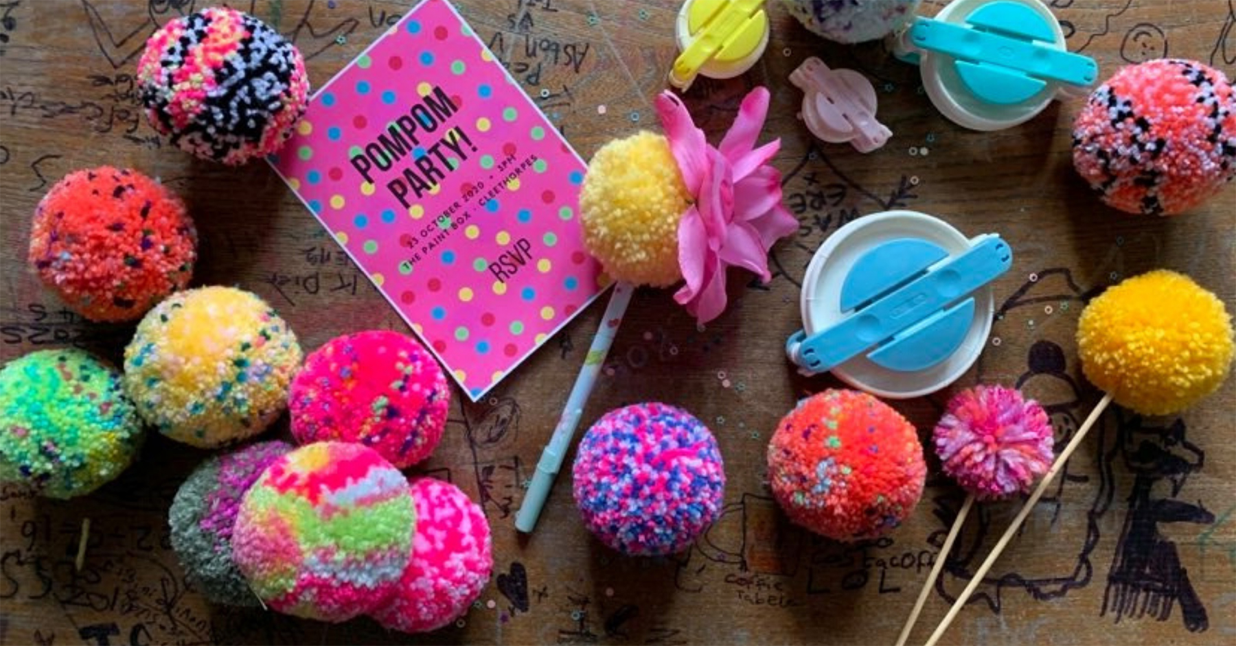 Pompoms and Parties by It Started With A Stitch