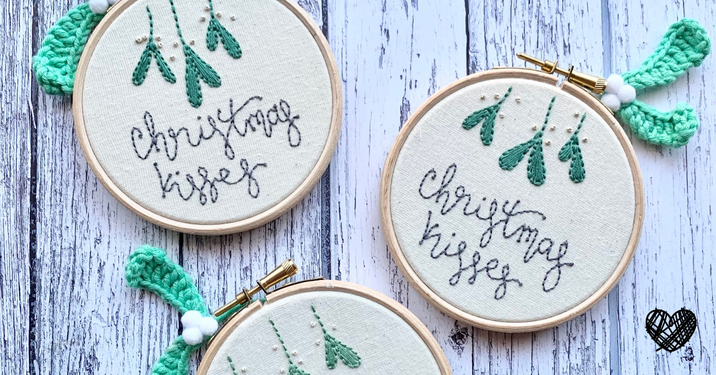 Christmas Kisses - It Started With a Stitch